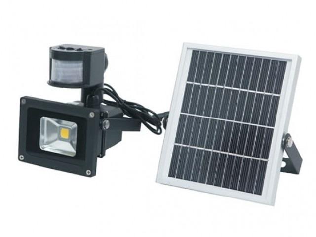 6db73f16f348d Foco Led Exterior Con Sensor De Movimiento Y Panel Solar 10w ...