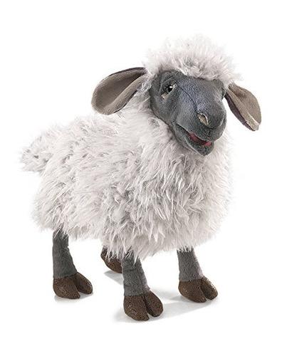 folkmanis bleating sheep hand puppet plush