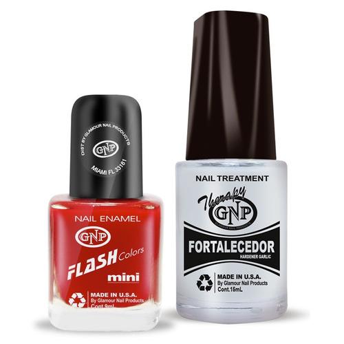 fortalecedor de ajo y esmalte gnp 9ml nro.16 rojo intenso