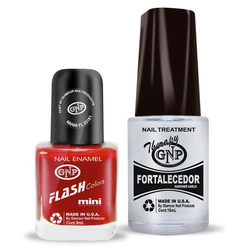 fortalecedor de ajo y esmalte gnp 9ml nro.18 rojo bordeaux