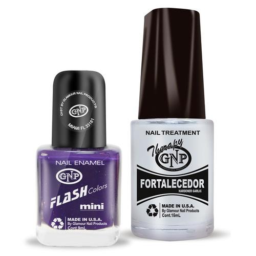 fortalecedor de ajo y esmalte gnp 9ml nro.27 violeta
