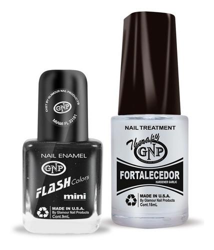 fortalecedor de ajo y esmalte gnp 9ml nro.30 negro