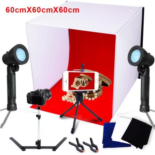 foto estudio 24  fotografía luz carpa escenario kit 60cm cub