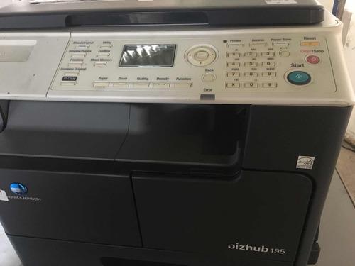 fotocopiadora minolta bizhub 195 para repuestos placa rota