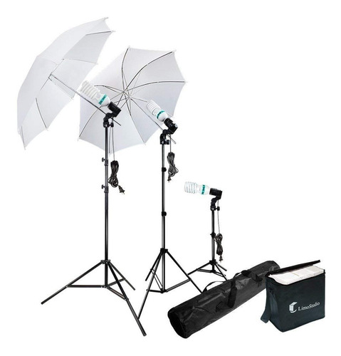 fotografía paraguas kit de iluminación  5500 k continua luz
