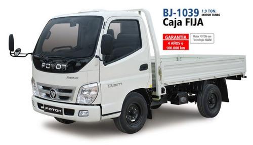 foton bj-1039, 1.9 ton., con aire, rueda sencilla, financia