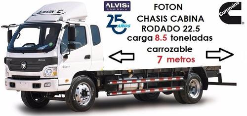 foton bj1129 motor cummins rodado 22.5 carga 8.5 ton. + iva