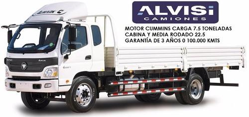 foton camión cummins carga 7.5 ton. c/ caja + iva