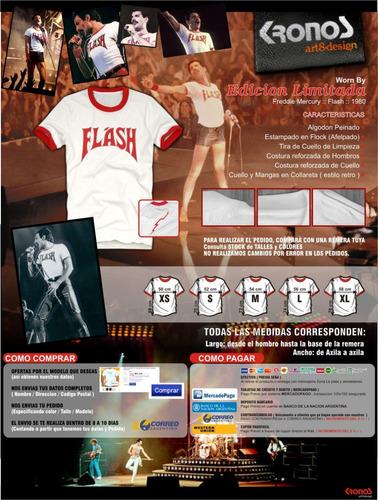 freddie mercury remera flash1980 ed. limitada queen