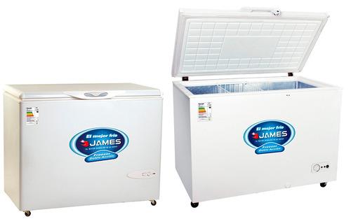 freezer horizontal james j250 doble accion  gtia pcm