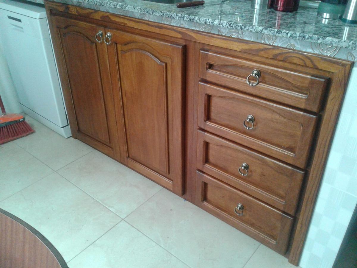 Frente de mueble de cocina en madera maciza rustico 18 - Muebles de cocina madera maciza ...