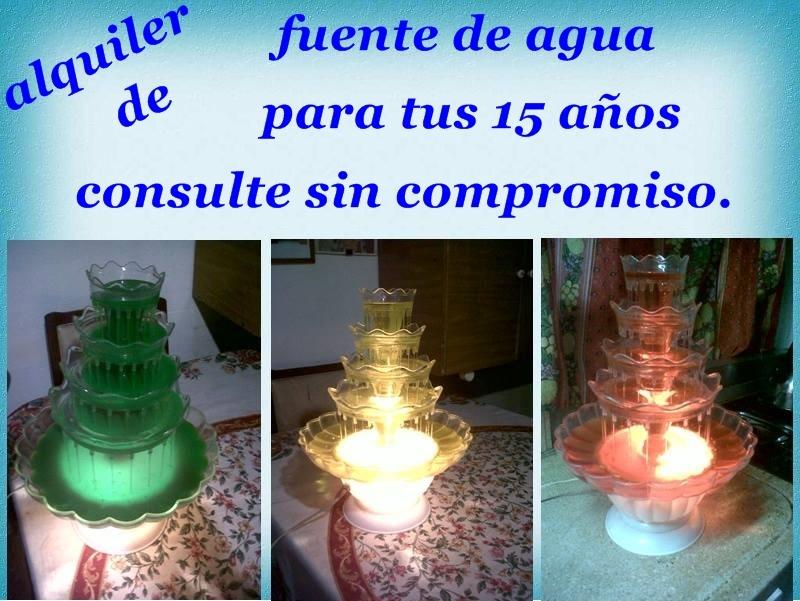 Fuente De Agua Para Tus 15 Años. - $ 1.500,00 en Mercado Libre