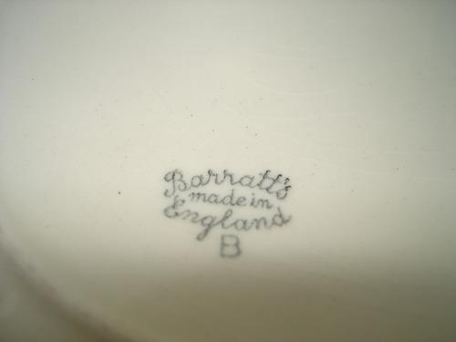 fuente inglesa para torta antigua pintada a mano mirala
