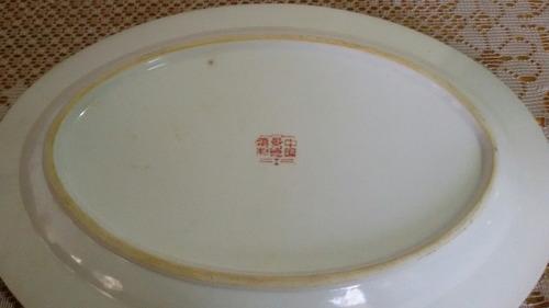 fuente oval porcelana canton, impecable estado