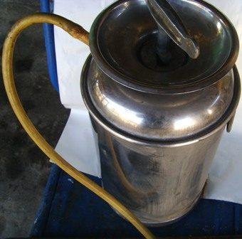 fumigador muy antiguo marca ilsa de acero inox y bronce