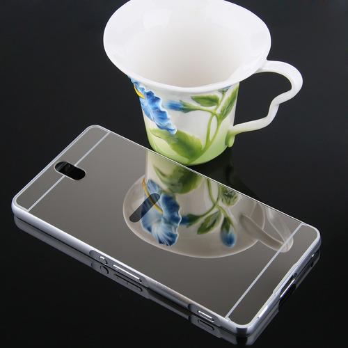 funda aluminio  espejo xperia c5 ultra la mejor calidad