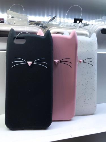 funda case 3d gato silicona colores iphone 5-6-7-8-x oferta