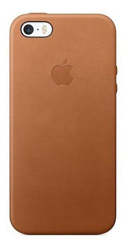 funda leather case para el iphone se - marrón caramelo
