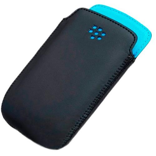 funda o estuche de cuero blackberry curve 9220 9320 de 5x11®