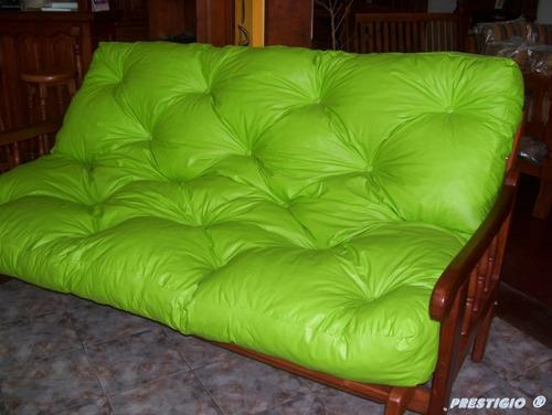 funda para colchón de futón - ecocuero impermeable - 3 cpos