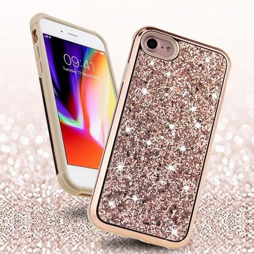 funda protector iphone 5 y 6 efecto liquido y brillo