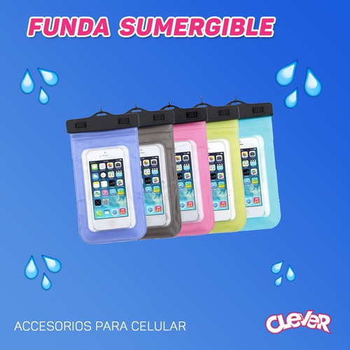 funda sumergible touch para celular. samsung, iphone, otros.