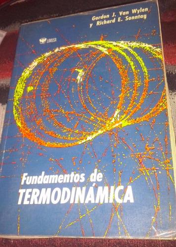 fundamentos de termodinámica wylen sonntag limusa