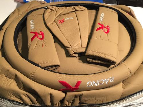 fundas cubre asientos auto cuerina calidad beige 12 pzs mod2