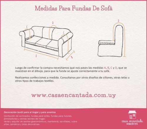 fundas para sillones sofás de 3 cuerpos - casa encantada