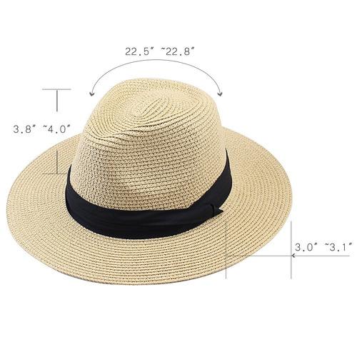 52bea1ce238d9 Furtalk Panama Roll Up Sombrero Fedora Beach Sun Hat Upf5 - U S 44 ...