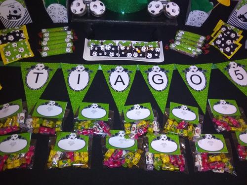 futbol mesa de dulces cumpleaños pelotas