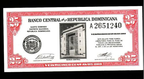 fv * billete - republica dominicana  1961 - 25 cents