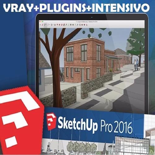 g- sketchup 2016 w64bits en español vray plugins + obsequios