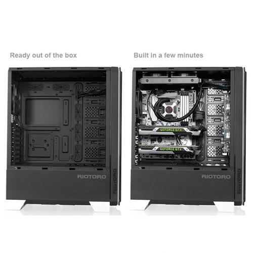 gabinete gamer riotoro cr1288 rgb full tower case usb 3.0