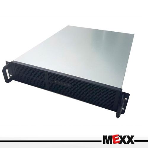 gabinete rackeable 2u550 sfx 2u 3x bahias 2x usb mexx