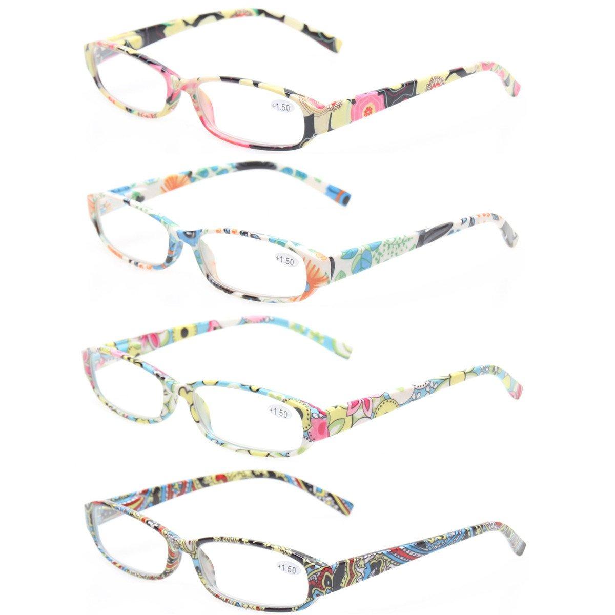 e1b1155bf0 gafas de lectura 4 gafas de mujer de moda con diseño flor. Cargando zoom.