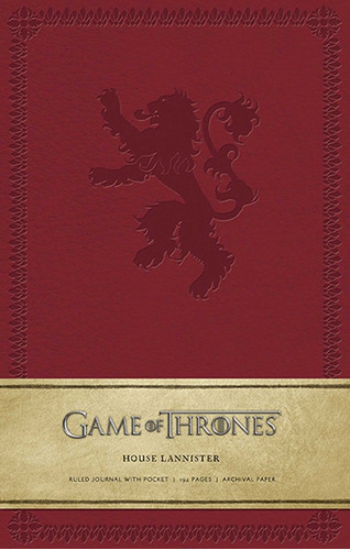 game of thrones ruled journal : house of lannister