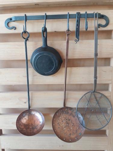 gancheras en hierro forjado ,cocina - barbacoa