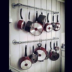 gancheras y barras organizadoras varios usos caños de hierro