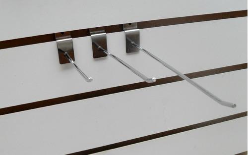 gancho reforzado para placa ranurada de 10 cm