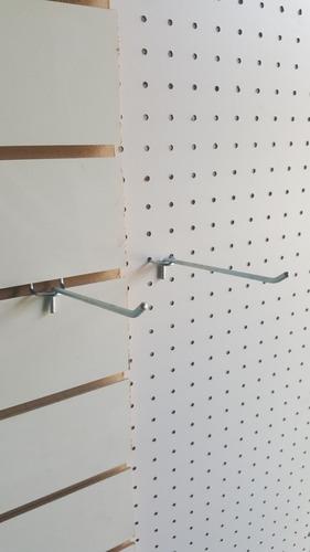 ganchos panel  ranurado  o perforado 5 cm