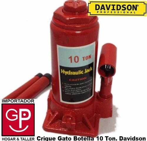 gato botella hidráulico 10 toneladas davidson g p