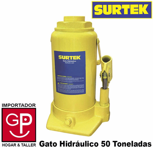 gato botella hidráulico 50 toneladas surtek