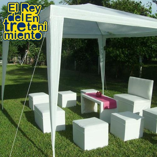 gazebo 3x3 m jardín impermeable camping carpa + lona el rey
