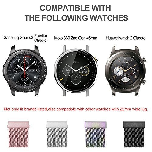 gear s3 frontier / classic watch band, fullmosa milanese.