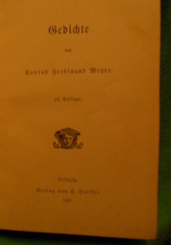 gedichte c.f mayer editado en 1907