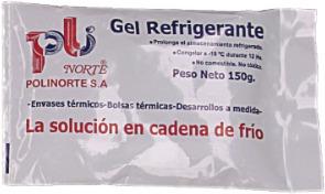 gel refrigerante / cadena de frio 150 grs x 75 u.