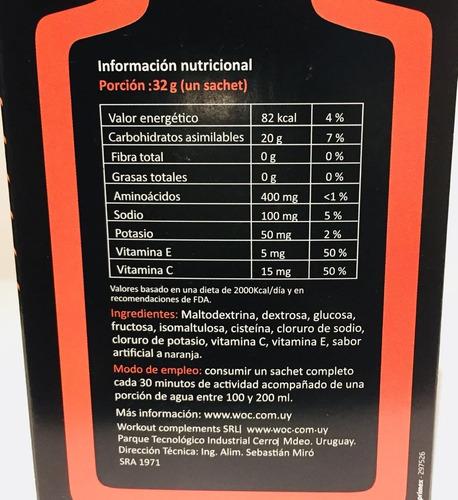 geles energéticos x 15 unidades