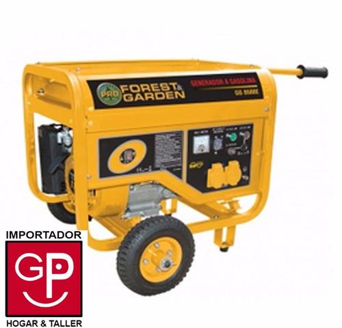 generador a gasolina forest & garden 4700w gg8500 g p