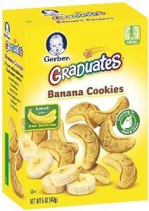 gerber graduados galletas plátano galletas cajas de 5 onzas